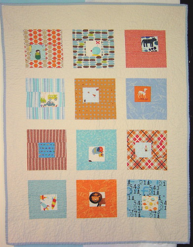 Square in Square Baby Boy Quilt
