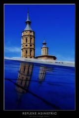 Reflexe asimetric (XDR photo) Tags: arquitectura saragossa torres reflexes esglsies sortidacaadorsdimatges