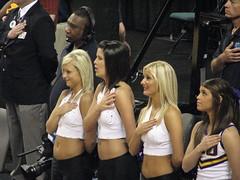 LSU Dancers (SneakinDeacon) Tags: cheerleaders greensboro lsu butler tigers sec ncaa bulldogs collegebasketball marchmadness southeasternconference horizonleague