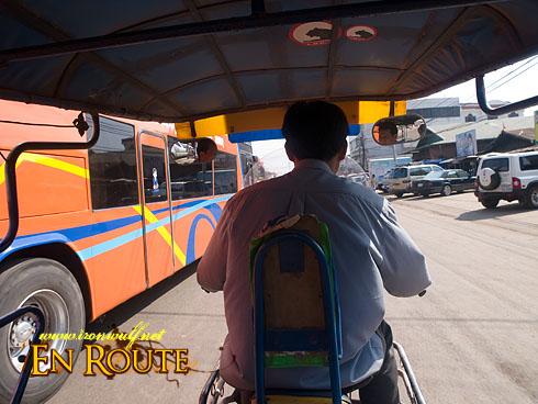 Laos Tuk-tuk view