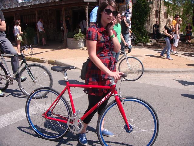 Matching Bike Girl - SXSW 2009