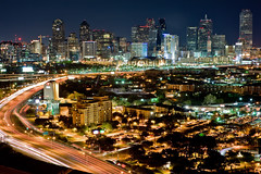 Dallas: Lights out for Earth Hour (michael spear hawkins) Tags: out lights michael dallas nikon downtown day texas earth no f14 tx 85mm nikkor hawkins spear d700 earthhour