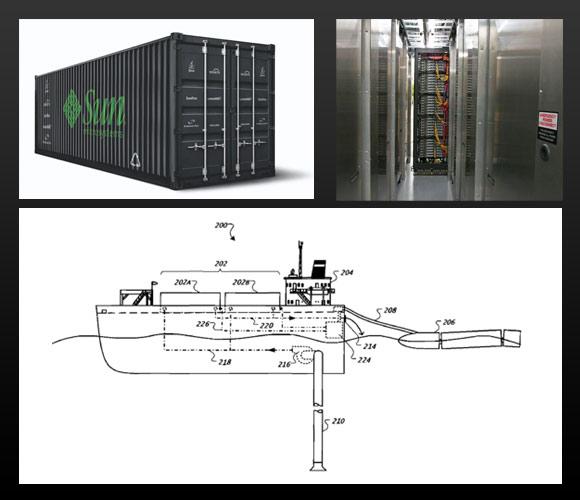 The sun blackbox bottom schematic for a floating google data center
