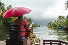 The Bleeding Pink Umbrella on a Rain swept day in Alleppey, Kerala (Anoop Negi) Tags: world travel pink girls red portrait sky people india man color colour men water girl rain festival shirt clouds race umbrella photography for boat photo check amazing women essay media place searchthebest rice image photos gorgeous delhi indian bangalore creative picture culture traditions kerala images best canals exotic human photograph hues journey captain po tradition mumbai races nehru backwaters journalism alleppey alappuzha photosof ezee123 bestphotographer imagesof anoopnegi jjournalism