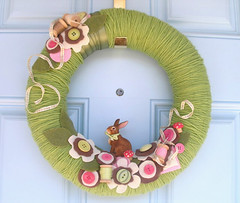 meadow threads yarn wreath (KnockKnocking) Tags: