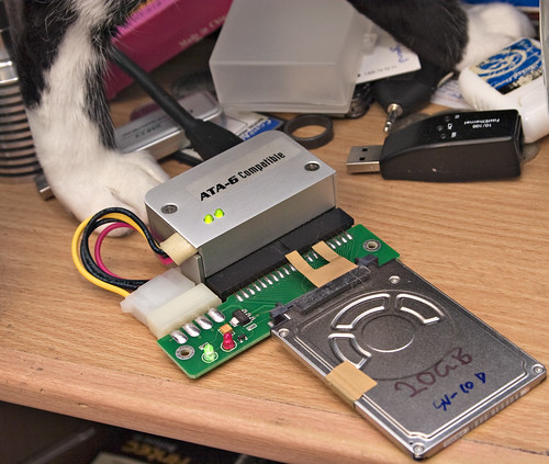 1.8-inch drive, interface adapters, and cat feet