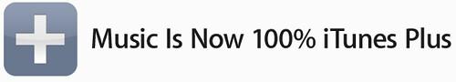 iTunes ahora es 100% Plus sin DRM = menos canciones !!!