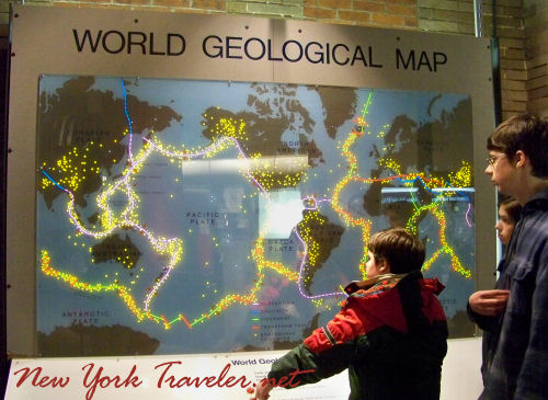 World Geological Map Lights