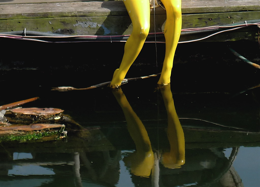 found: pair of yellow plastic legs!