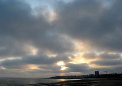 6.30am (`miRЯim ☮) Tags: light sea beach water dedication rock clouds canon dawn coast chalk kent seaside lowlight sand photoshoot wind cranes hidden lumiere promenade inspirational awe pixels iconic margate westbrook photons goodomens digitalcameraclub justclouds