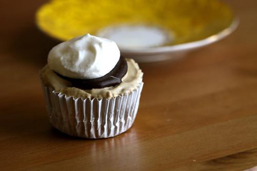 Brownie Bottom Ice Cream Cupcakes