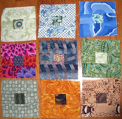 tiny scrap blocks (Peg at Ivy Arts) Tags: scrapquilt nothingbutscraps