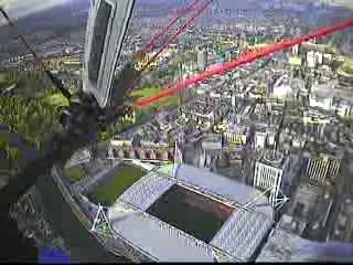 Cardiff's Millenium Stadium - roof open