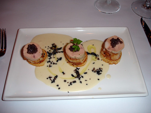 scallops and foie gras from montrachet