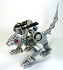 Saddle up, lock and load (DARKspawn) Tags: metal silver robot dragon lego space heavy mecha bot mech classicspace