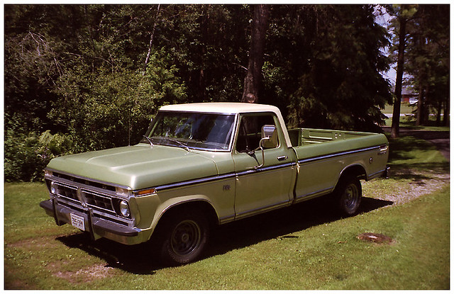 camera green ford truck 35mm lomo lomography pickup 360 f150 chrome 1970s rims russian 1976 yello twotone belomo americanracing vilia kitchenerwaterloovintagecameraclub