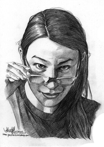 Pencil portrait of Maja
