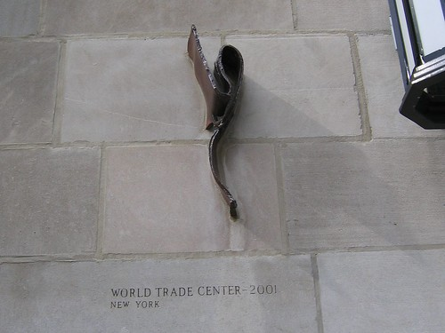 Steel from World Trade Center in Chicago Tribune Tower