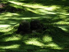 sanzenin jizo (Molly Des Jardin) Tags: sculpture green statue japan stone garden religious temple moss kyoto hiking buddhist religion buddhism carving hike ohara kansai 2009 jizo sanzenin 大原