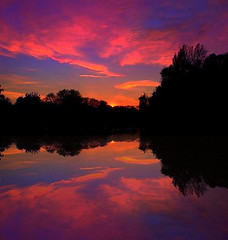 (digitalpsam) Tags: uk sunset england lake reflection art nature beautiful beauty mood colours creative surreal heavenly warwickshire sammatta