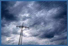 Energie (weha) Tags: fuji energie wolken mast blau strom s3pro fujis3pro weha