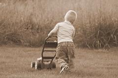 IMG_0553 (Tina  **~) Tags: boy grass yellow yard fun happy little jeans bubble blower dalto