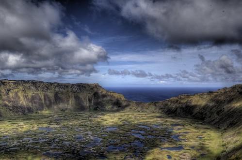 Rano Kau Volcano at Orongo, Easter Island