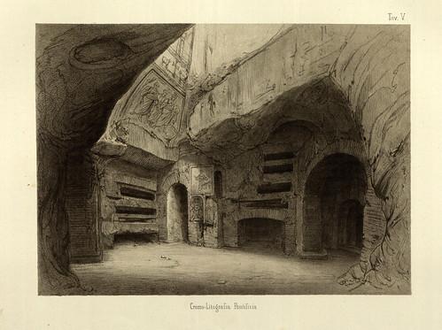 010-Cripta de Sta. Cecilia-La Roma sotterranea cristiana - © Universitätsbibliothek Heidelberg