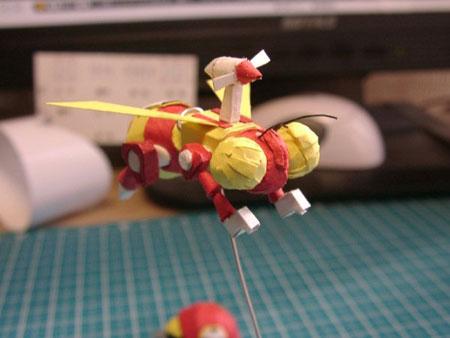 Honeybee-Drone Papercraft