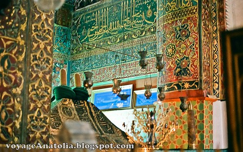 Tomb of Rumi at Konya by voyageAnatolia.blogspot.com