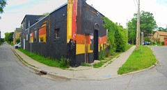 On the Corner (Gary Seibert) Tags: red orange ontario black building yellow corner guelph stitched theward