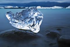 Jökulsárlón; Iceland (Corica) Tags: longexposure ice rock landscape iceland nikon glacier iceberg jökulsárlón d300 vatnajökull corica southeasticeland