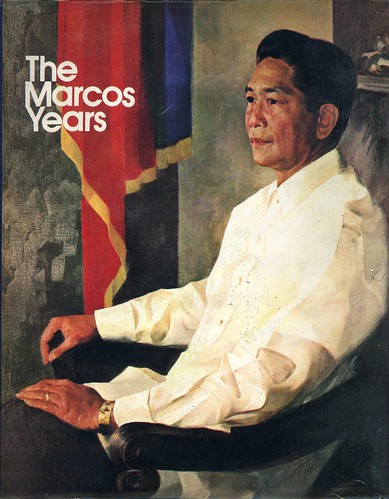 Dust Jacket of The Marcos Years (1972), edited by Ileana Maramag