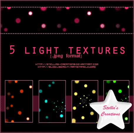 Light Textures - © Blog Stella's Creations: http://sc-artistanelcuore.blogspot.com
