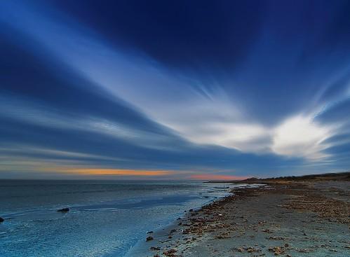 フリー画像| 自然風景| ビーチ/海辺| 雲の風景| 青色/ブルー|       フリー素材|