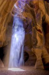 Antelope Canyon Light Shaft (BlackRockBacon) Tags: light sand tour pentax ngc canyon page antelope guide lower dust slot hdr shaft arizone photomatix tamron1750 pentaxk5