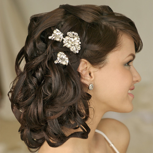 short hair updos for brides. short hair styles