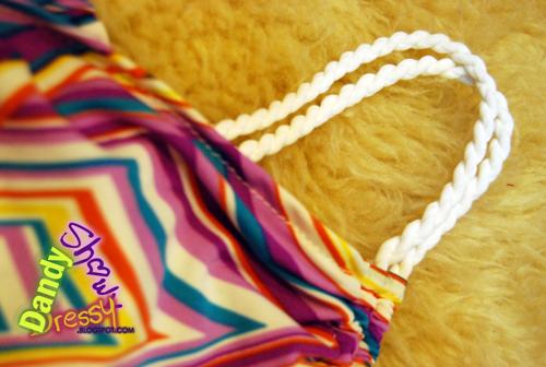 purple geometrics strap