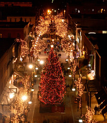 CSM Holiday lights, Church Street Marketplace Burlington Vermont by churchstreetmarketplace