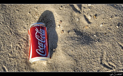 Drink Coca-Cola (drpaton2) Tags: shadow classic beach sand empty coke can pebbles cocacola emptycan