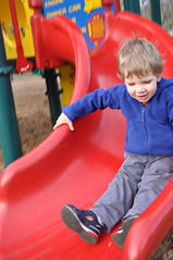 Slide (Jeff Youngstrom) Tags: boy playground nathan issaquah memorialfield