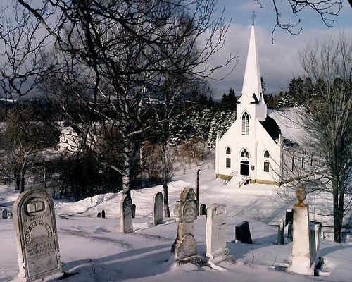 Cape Breton Church in Snow