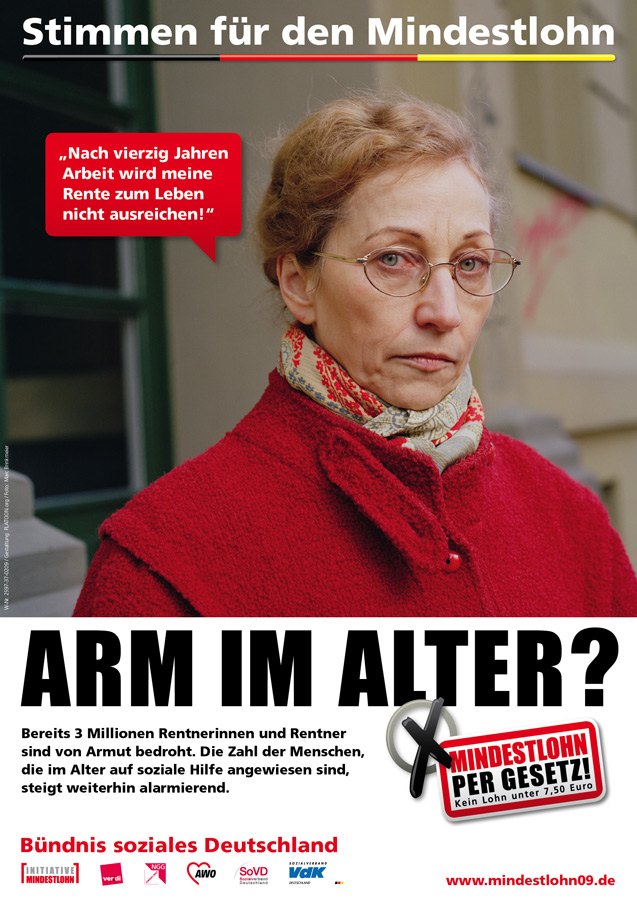 Arm im Alter