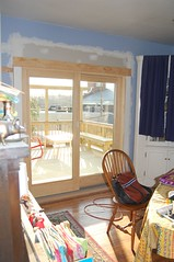 Sliding doors onto deck