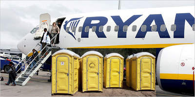 Pay toilets ready to be loaded onto Ryanair