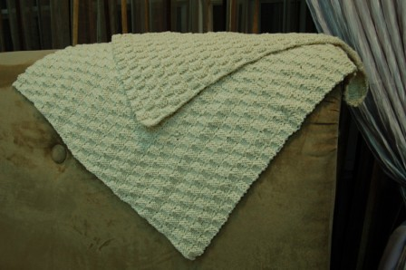 Checkerboard Knitting Pattern Blanket : Knits and nibbles: Knit FO: Sunainas baby blanket