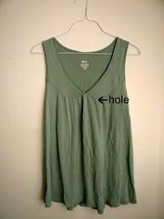 Cute Shirt with Holes (kristenaderrick) Tags: thrift thrifty reuse handmedowns redo upcycling wardroberefashion
