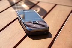 Nokia E75 under the sun bottom