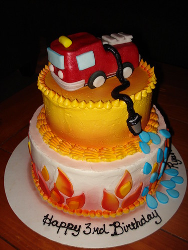 Fire Engine cake www.charley.salas@sbcglobal.net