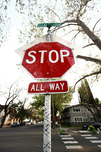 Stop sign at the end of my street.